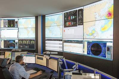 The Carnival Fleet Operation Centre where operators monitor and supports all cruise ships in the company.