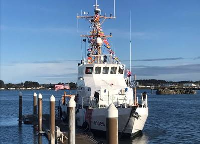 The Coast Guard Cutter Dorado (WPB-87306) before a decommissioning ceremony on March 10, 2021 in Crescent City, Calif. (Photo: U.S. Coast Guard)