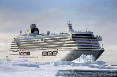 The Crystal Serenity will be the largest vessel to ever sail across the Northwest Passage. (Photo: Crystal Cruises)