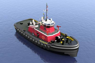 the Eric M. McAllister, a 5,150 horsepower, twin Azimuth Stern Drive (ASD) tugboat.
