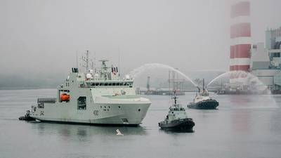 The first Arctic and Offshore Patrol Ship (AOPS), Harry DeWolf, was handed over on July 31, 2020, in Halifax, marking the delivery of the first ship in the largest fleet recapitalization Canada's peacetime history. (Photo: Royal Canadian Navy)