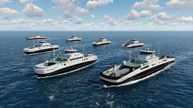 The five ferries are a Havyard design and will be built in Havyard Shipyard in Leirvik, Sogn. (Photo: Corvus )