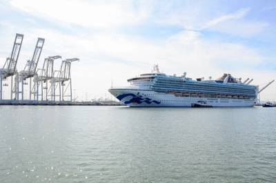 The Grand Princess arrives in Oakland on March 9 (Photo: Port of Oakland)