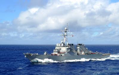 The guided missile destroyer USS Curtis Wilbur (DDG 54) steams through the Philippine Sea Aug. 19, 2013. (Photo: Ramon G. Go / U.S. Navy)