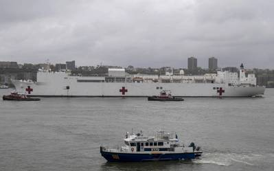 The hospital ship USNS Comfort departs New York after treating patients in the world's epicenter of coronavirus infections (Photo: U.S. Navy photo by Mass Communication Specialist 3rd Class Keia Randall)