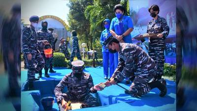 The Indonesian Navy is building a monument in honor of KRI Nanggala-402 and its sailors who were lost. (Photo: Indonesian Navy)