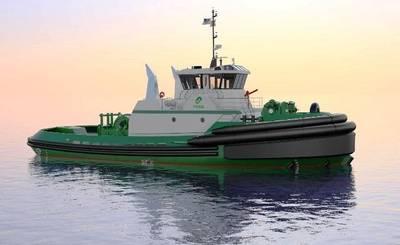 The Jensen designed Foss tier 4 tug. CREDIT: Jensen