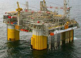 The Kristin platform in the Norwegian Sea (Photo: Trond Sigvaldsen)