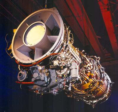 The LM2500 gas turbine (Photo: GE).