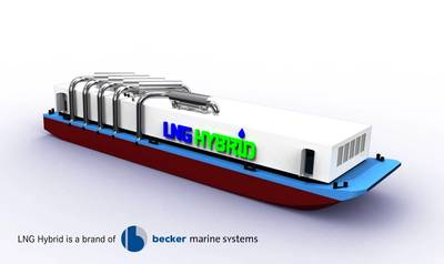 the LNG Hybrid Barge