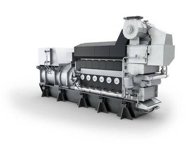 The MAN L21/31 engine (Image: MAN Energy Solutions)