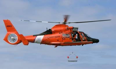 The medevac: Photo courtesy of USCG