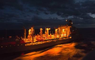 The Military Sealift Command fleet replenishment oiler USNS Leroy Grumman (T-AO 195). (File photo: Lacordrick Wilson / U.S. Navy)