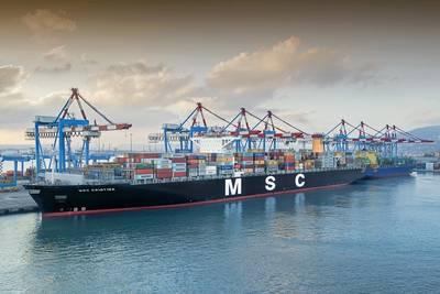 The MSC Christina (CREDIT: Haifa Port)