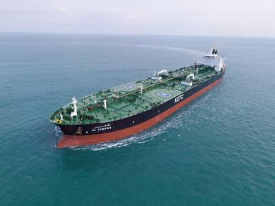 The M/T Al Funtas is one of four KOTC very large crude carriers (VLCCs) to be retrofitted with the Wärtsilä Fuel Efficiency Boost. (Photo: KOTC)