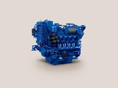 The MTU 8V 4000 M54 Ironmen commercial marine engine.