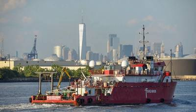 The multipurpose Fugro Enterprise is one of two Fugro vessels working on the Sunrise Wind project off the coast of New York - Credit: Fugro