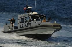 The Navy's 34-ft RAM built by SeaArk.