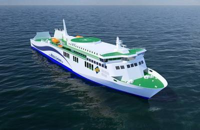 The new car and passenger ferry being built for Danish operator Mols-Linien will be powered by two eight-cylinder Wärtsilä 31 main engines. (Image: Wärtsilä)