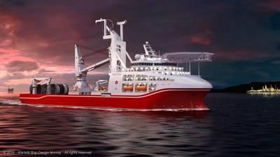 The new deepwater dive support vessel for Shanghai Salvage Bureau (SSB) is designed by Wärtsilä. (Image: Wärtsilä)