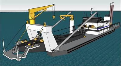 The new dredge, General Bradley, is slated to join Callan Marine's fleet in early 2021. (Image: Callan Marine)