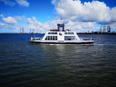 the new electric ferry, which is being build at Hvide Sande Shipyard in Denmark (Image: Corvus)