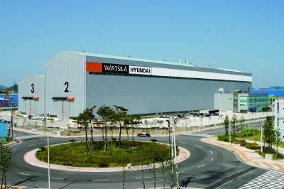 The new factory of Wärtsilä-Hyundai Engine Company Ltd.