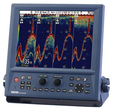 the new Koden CVS-FX1 12.1-inch Color LCD Echo Sounder.