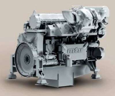 The new MTU engine: Image courtesy of MTU