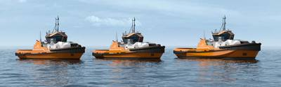 The new portfolio of Wärtsilä HYTug designs (Image: Wärtsilä)