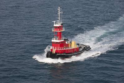 The new tug will be a sister vessel to the Denise A. Bouchard, pictured (Photo: VT Halter Marine)
