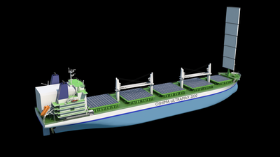 The new Ultramax Bulk Carrier design meets the IMO 2030 environmental targets. (Photo: Wärtsilä)
