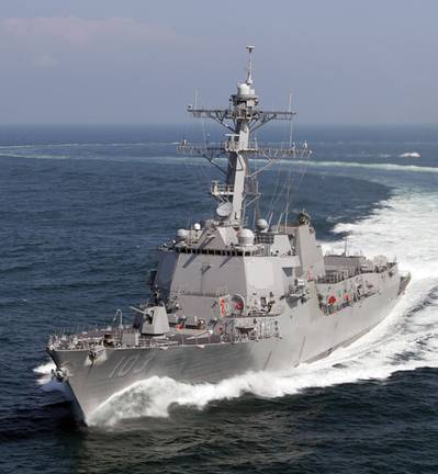 The Northrop Grumman-built Aegis guided missile destroyer Truxtun (DDG 103) successfully completed her builder's sea trials last week. DDG 103, shown here underway in the Gulf of Mexico, is the 25th Aegis destroyer being built by Northrop Grumman Shipbuilding - Gulf Coast.
