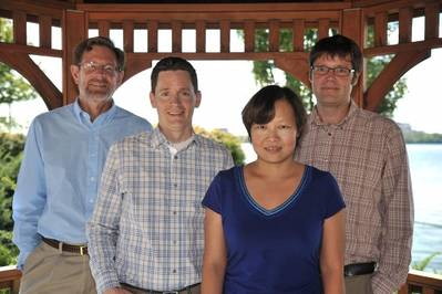 The NRL research team, left to right: Dr. Berend Jonker, Dr. Jeremy Robinson, Dr. Connie Li, and Dr. Olaf van't Erve. (Image: U.S. Naval Research Laboratory)