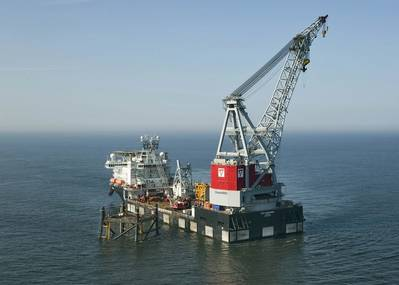 The Oleg Strashnov at work in the North Sea