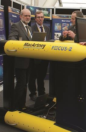 The on display MacArtney FOCUS-2 ROTV was ordered by Fugro at Ocean Business 2013