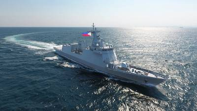 The Philippine Navy's newest frigate, BRP Jose Rizal (Photo: HHI)