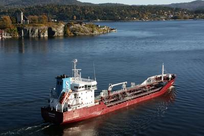 The picture shows the vessel for which ICE in 2013 performed its first scrubber retrofit project, at the time a pioneering project. Photo courtesy: shipspotting.com and provided by ICE.