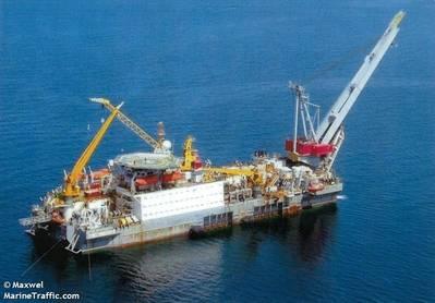 The pipelayer vessel Israfil Huseynov (File Image: © Maxwel / MarineTraffic.com)