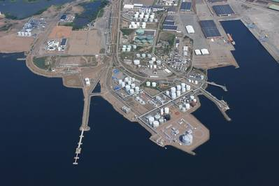 The port of Hamina will be the first LNG receiving terminal in Finland connected to Finnish gas grid. Photo:  Wärtsilä Energy Solutions