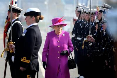 The Queen honours HMS Ocean refit: Photo by Royal Navy