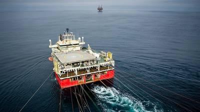The Ramford Vanguard seismic vessel. (Photo: Ole Jørgen Bratland)