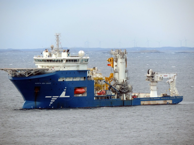 The retrofit energy storage system improves the operational efficiency and environmental footprint of the North Sea Giant. (Photo: Wärtsilä)