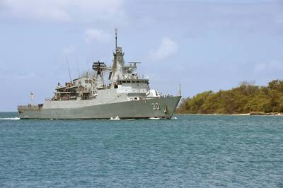 The Royal Malaysian Navy frigate KD Lekiu (FFG 30) arrives at Joint Base Pearl Harbor-Hickam in preparation for Rim of the Pacific (RIMPAC) exercise.. (U.S. Navy photo by Mass Communication Specialist 1st Class Jimmie Crockett)