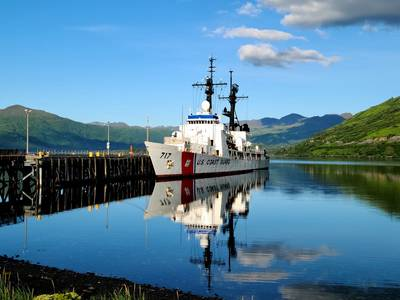 The Seattle-based Coast Guard Cutter Mellon (WHEC 717) moors at U.S. Coast Guard Base Kodiak's fuel pier in Kodiak, Alaska, July 10, 2020. Commissioned in 1968, the Mellon stopped in Kodiak during their final patrol before the cutter's scheduled August 20, 2020, decommissioning. (U.S. Coast Guard photo by John Arredondo)