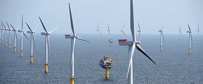 The Sheringham Shoal Offshore Wind Farm. (Photo: Alan O'Neill)