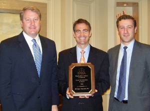 The Shipbuilders Council of America present the Award for Excellence in Safety to Bollinger executive vice president, Chris Bollinger during the April 2011 meeting held in Washington, D.C.  (Pictured left to right: Matthew Paxton, SCA – President; Chris Bollinger, Bollinger Shipyards - Executive Vice President; and Ian Bennitt, SCA - Manager Government Affairs.)