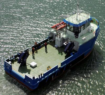 The SMS Group in Southampton has delivered a new build 24m aquaculture vessel Emmaya to a Tuna farm operator in Malta, Fish & Fish Ltd. (Photo: SMS Group)