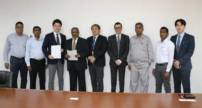 The team from CDPLC and Panasia present at the agreement signing. Photo: Colombo Dockyard