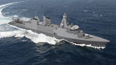 The Type 31 programme consists of five general purpose frigates with a production cost of $350 million per unit. The T31 builds upon the already successful Iver Huitfeldt Global Frigate design, incorporating changes to provide a compliant and adaptable modern platform. Photo courtesy Babcock